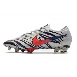 Chaussures de football Nike Mercurial Vapor 13 Elite South Korea FG blanc Noir rouge Bleu