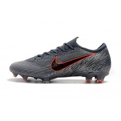 Chaussures de foot Crampons Nike Mercurial Vapor VII Elite FG Gris Orange