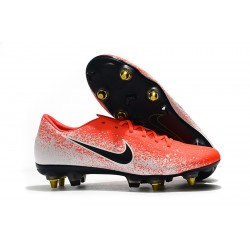 Chaussures de foot Crampons Nike Mercurial Vapor XII PRO SG Orange Blanc