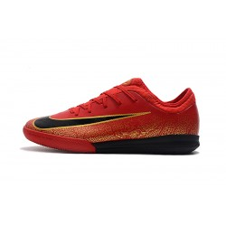 Chaussures de foot Nike Mercurial VaporX VII Pro IC Rouge d'or