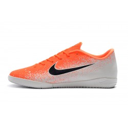Chaussures de foot Nike Mercurial VaporX XII Academy IC Orange Blanc