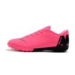 Chaussures de foot Nike Mercurial VaporX XII Academy TF Rose Noir
