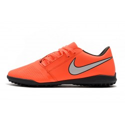 Chaussures de foot Nike Phantom VNM Club TF Orange Argent