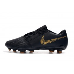 Chaussures de foot Crampons Nike Phantom VNM Elite FG Noir d'or