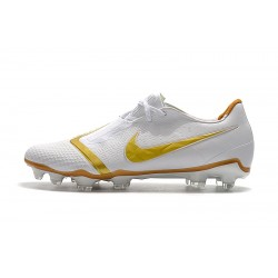 Chaussures de foot Crampons Nike Phantom VNM Elite FG Blanc d'or