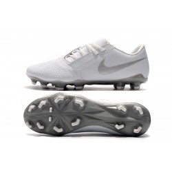 Chaussures de foot Crampons Nike Phantom VNM Elite FG Blanc