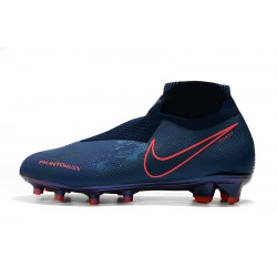 Chaussures de foot Crampons Nike sans lacet Phantom VSN Elite DF FG Bleu royal