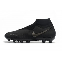 Chaussures de foot Crampons Nike sans lacet Phantom VSN Shadow Elite DF AG Noir