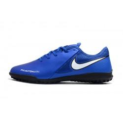 Chaussures de foot Nike Phanton VSN Academy TF Bleu Vert Blanc