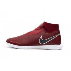 Chaussures de foot Nike React Phantom VSN Pro DF IC Laceless Rouge