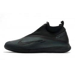 Chaussures de foot Nike React Phantom Vision 2 Pro Dynamic Fit IC Noir