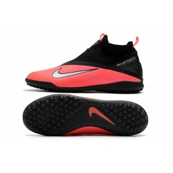 Chaussures de foot Nike React Phantom Vision 2 Pro Dynamic Fit TF Rose Noir Argent