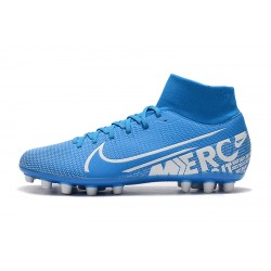 Chaussures de foot Crampons Nike Superfly VII Academy CR7 AG Bleu