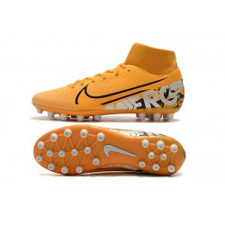 Chaussures de foot Crampons Nike Superfly VII Academy CR7 AG Orange