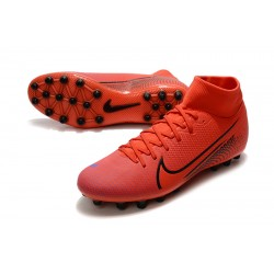 Chaussures de foot Crampons Nike Superfly VII Academy CR7 AG Rouge