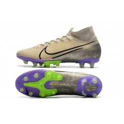Chaussures de foot Crampons Nike Superfly VII Elite SE AG Champagne