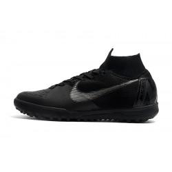Chaussures de foot Nike SuperflyX 6 Elite TF Noir Argent