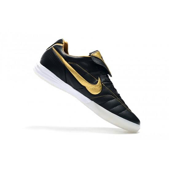 Chaussures de foot Nike Tiempo Legend 7 R10 Elite IC Noir d'or