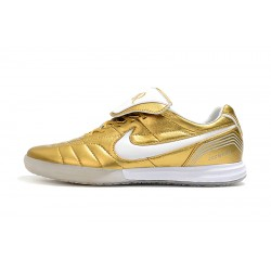 Chaussures de foot Nike Tiempo Legend 7 R10 Elite IC d'or