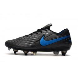 Chaussures de foot Crampons Nike Tiempo Legend 8 Elite SG-Pro AC Noir Bleu