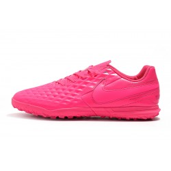 Chaussures de foot Nike Tiempo Legend VIII Club TF Rose
