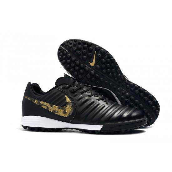 Chaussures de foot Nike Tiempo Ligera IV TF Noir