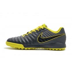 Chaussures de foot Nike Tiempo Ligera IV TF Dark Gris Jaune