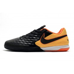 Chaussures de foot Nike Tiempo Lunar Legend VIII Pro IC Noir Orange