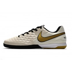 Chaussures de foot Nike Tiempo Lunar Legend VIII Pro IC Cream d'or