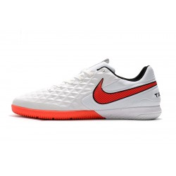 Chaussures de foot Nike Tiempo Lunar Legend VIII Pro IC Blanc Rouge