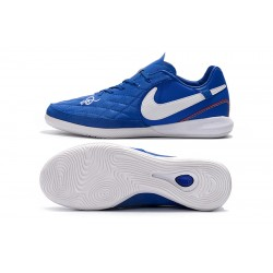 Chaussures de foot Nike TimpoX Finale IC Bleu Blanc