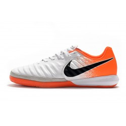 Chaussures de foot Nike TimpoX Finale IC Blanc Orange