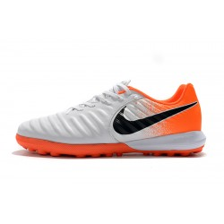 Chaussures de foot Nike TimpoX Finale TF Blanc Orange