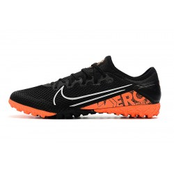 Chaussures de foot Nike Vapor 13 Pro TF Low Noir Orange