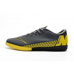 Chaussures de foot Nike Vaporx 12CLUB IC Dark Gris Jaune